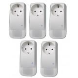 Pack de 5 prises électriques pilotable par smartphone